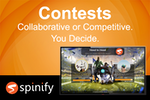 Spinify screenshot: Setup competitions with individual reps, teams, head to head, races, elimination games and more!