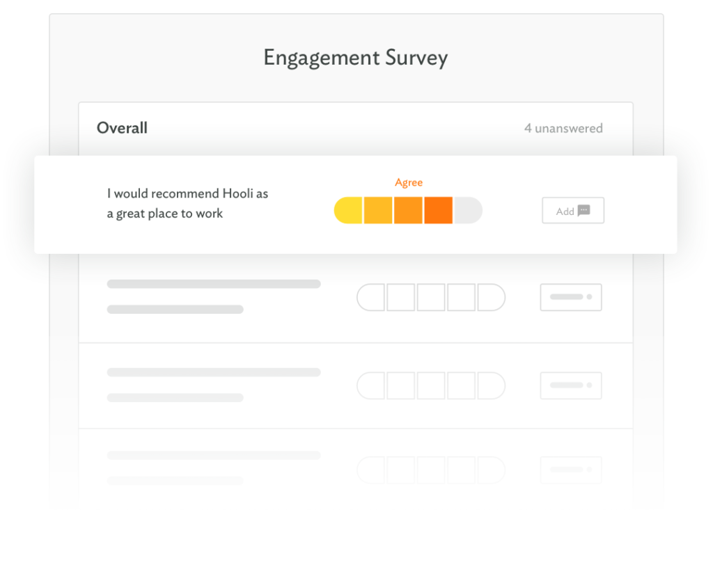 Select from our library of research-backed engagement, pulse, and deep dive surveys designed by organizational psychologists and data scientists