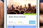 Allcal screenshot: Search for different events and festivals