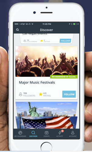 Search for different events and festivals