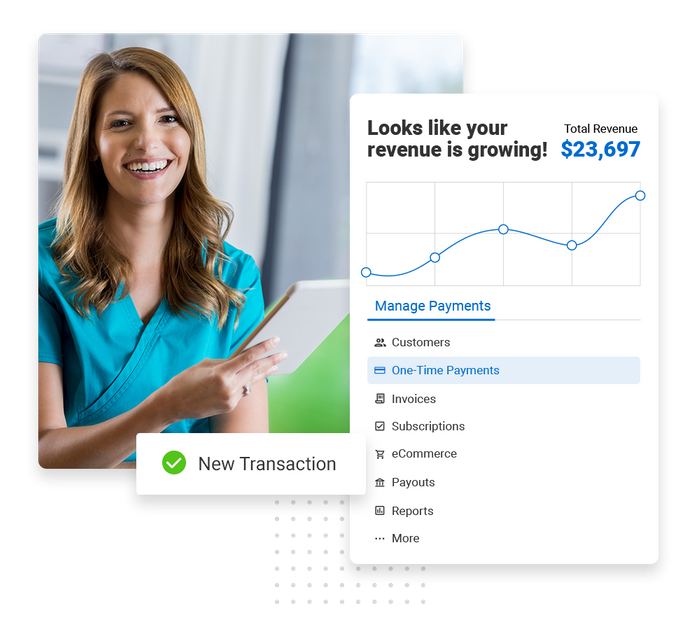 Get paid faster with invoices, contactless payments, credit card, and online transactions