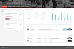 Martial Arts on Rails screenshot: Check revenue and attendance graphs via the gym dashboard