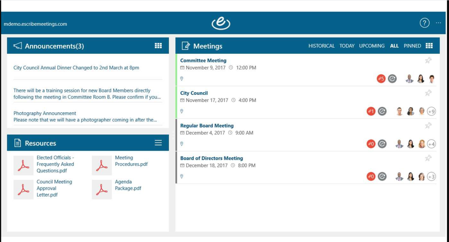 eSCRIBE meeting management