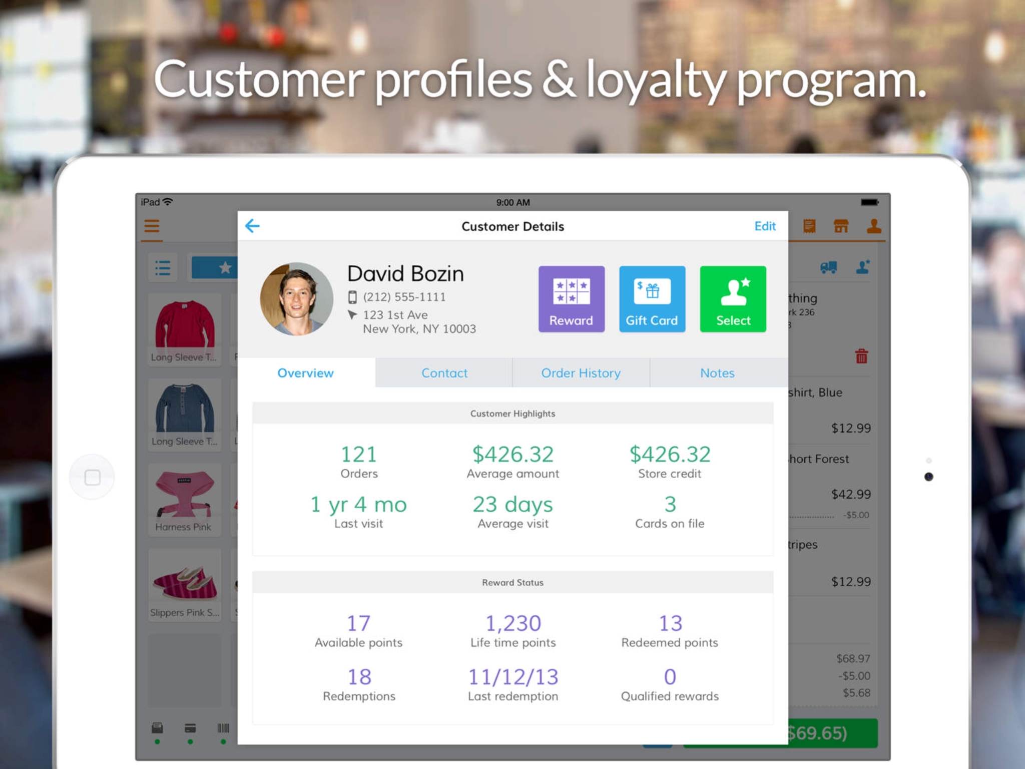 Gain quick and central access to customer details