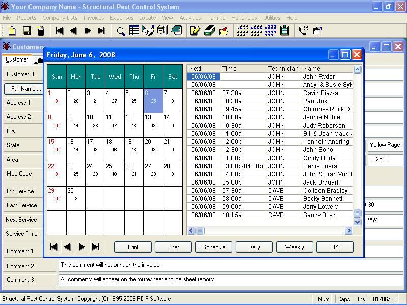 Structural Pest Control System Logiciel - 2