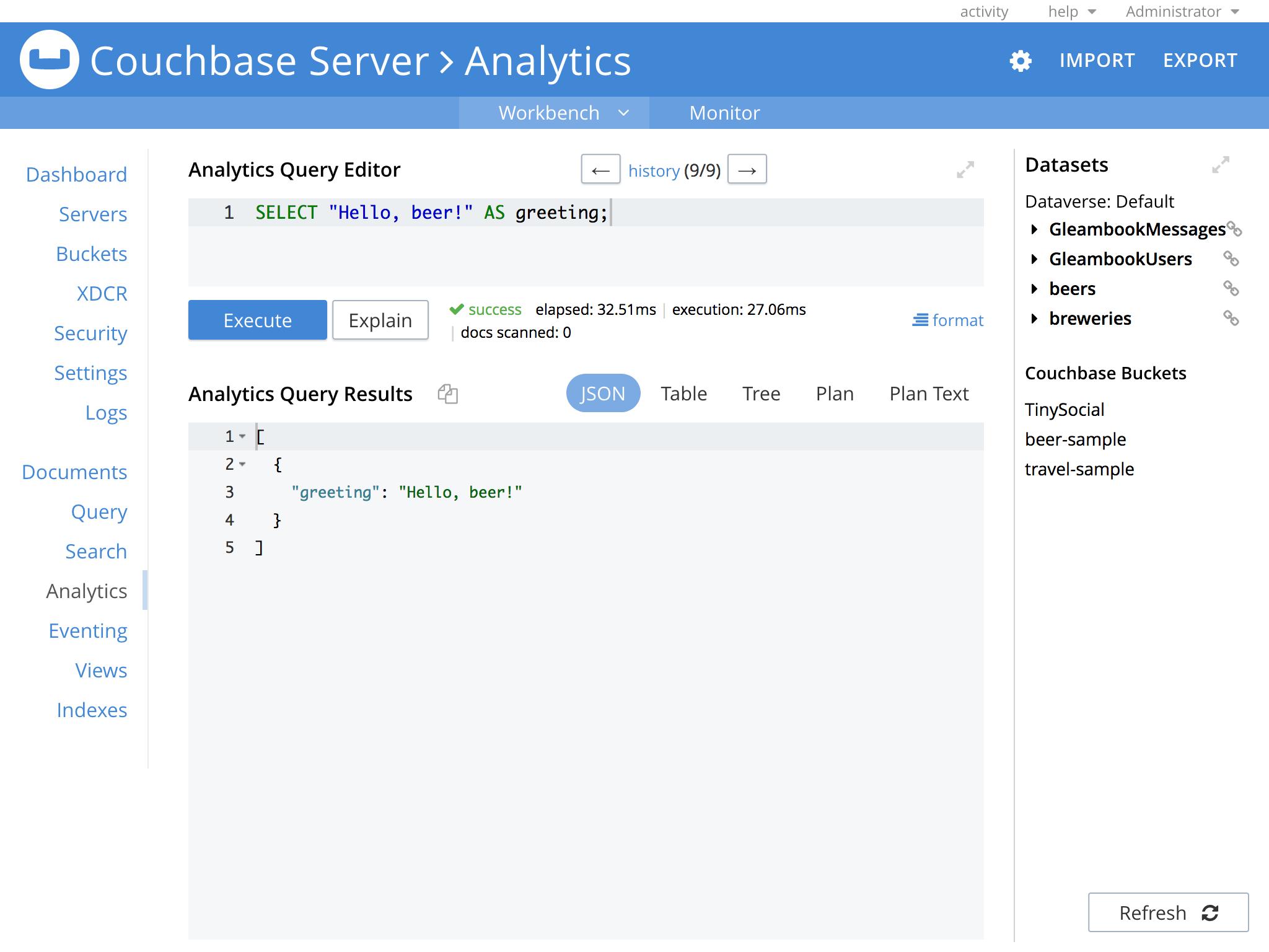 Couchbase Server Software - Couchbase Server analytics