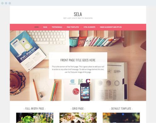 WordPress screenshot: Built-in themes
