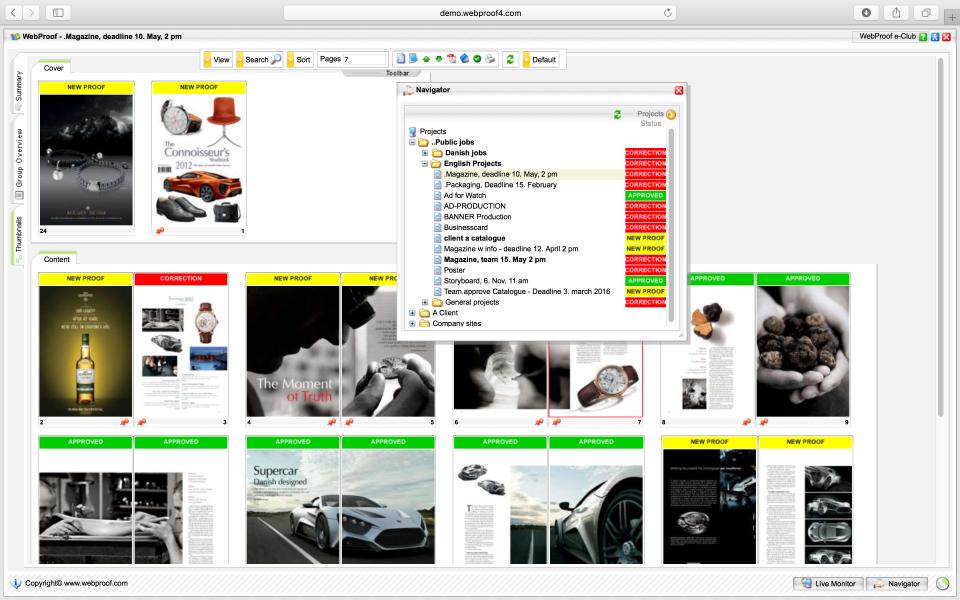 WebProof Software - WebProof navigator