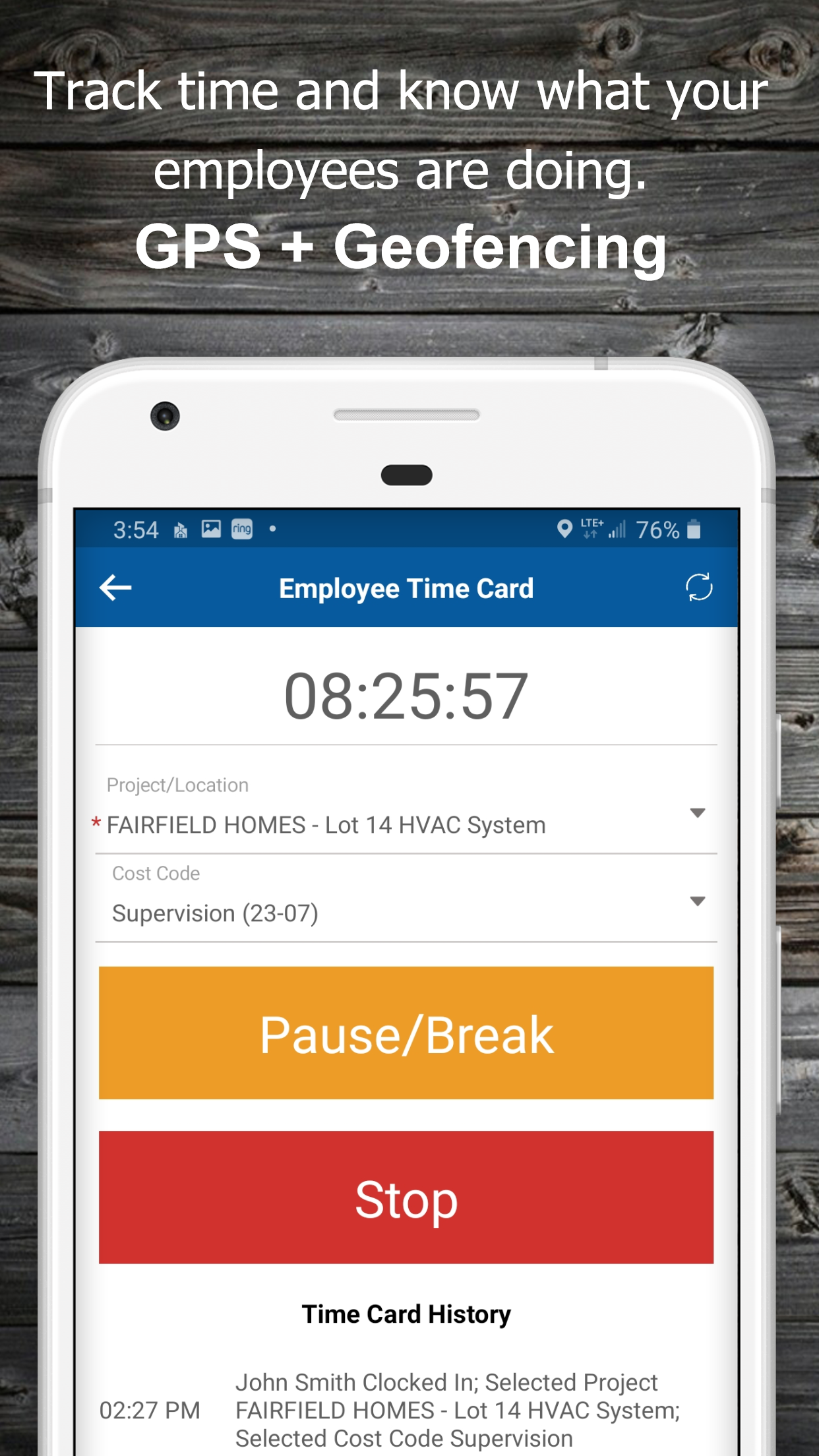 Our Timecard feature is worth the price along.  With GPS and Geofencing, advanced features have never been so easy to use and so affordable.