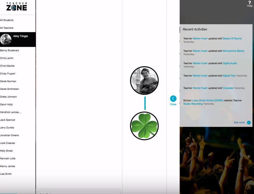 TeacherZone email notification screenshot