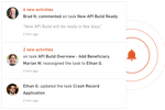 Productive screenshot: Notifications provides update progress to keep team members informed on project developments
