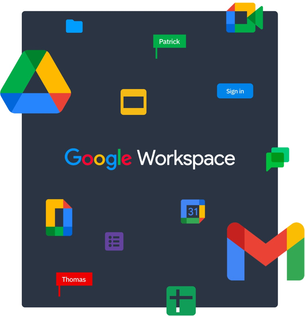 Fully integrated with all Google Workspace tools