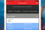 RedTeam screenshot: Automatically input details of jobs such as weather conditions