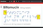 GlobalVision screenshot: Measure dot spacing, word spacing, line spacing, and find added or missing dots