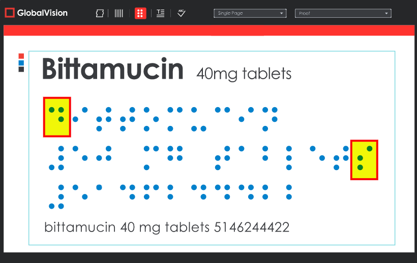 Measure dot spacing, word spacing, line spacing, and find added or missing dots