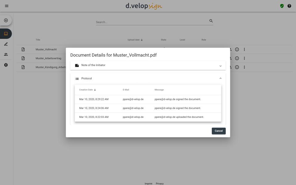 d.velop sign Software - 5