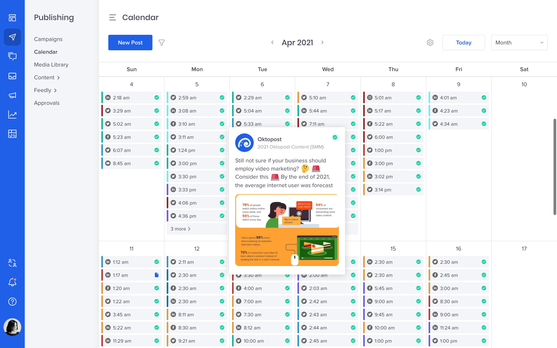 Oktopost Software - Calendar