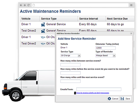 Receive reminders when upcoming service events are near