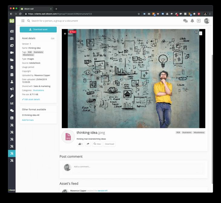 idloom-wall asset details screenshot