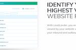 LeadLander screenshot: LeadLander Page Tracking