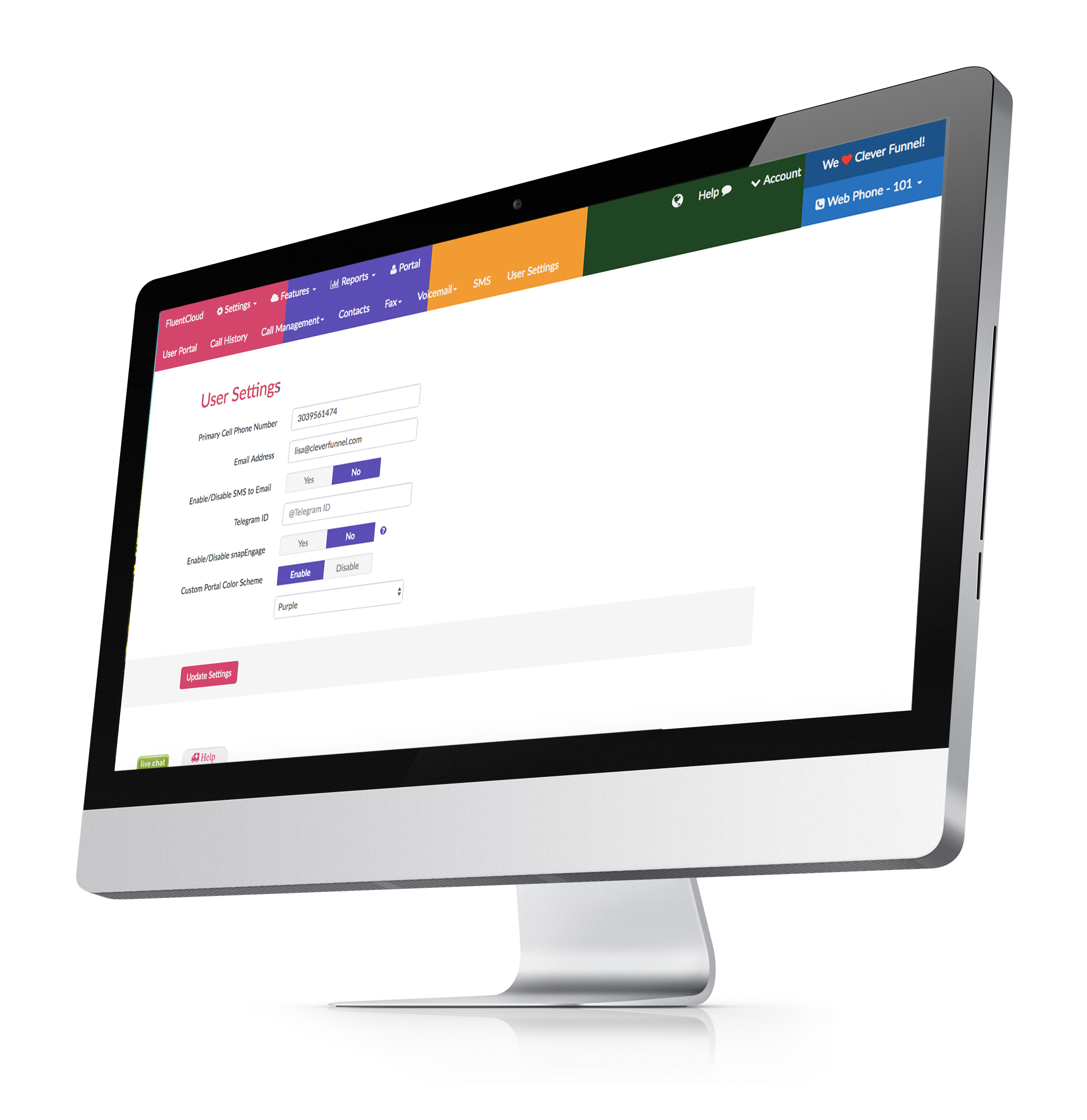 Cloud phone systems make it possible for administrators to make changes to the system without costly calls to a support team. My FluentCloud Web Portal gives variable levels of access to make changes on a system-wide level or at the user level.