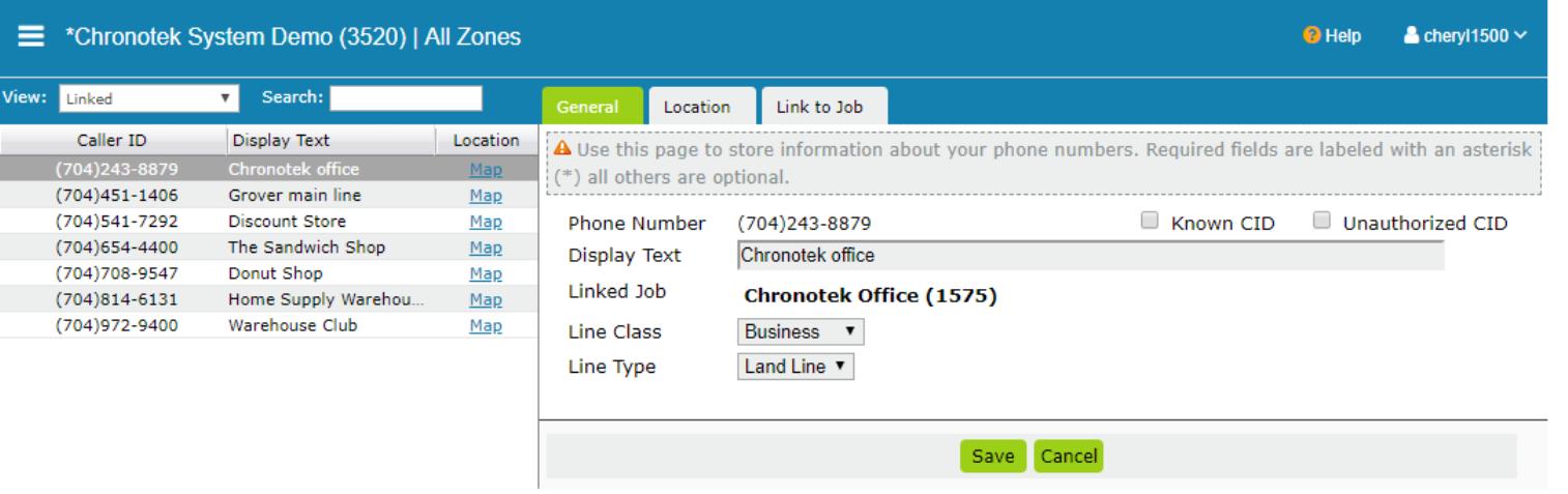 Chronotek Software - Chronotek link site phones