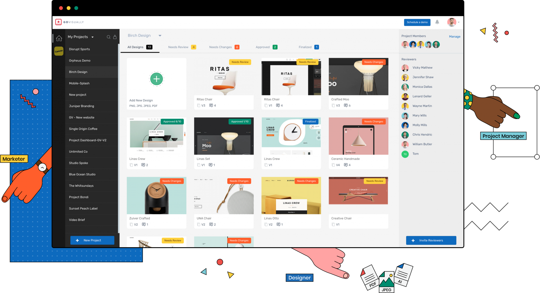 One place to have all your designs, documents and videos for collaboration and delivery.