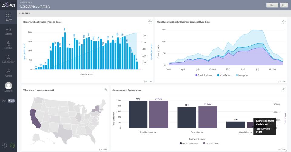 Looker Software - Business Dashboard