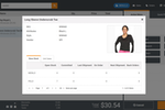 MicroBiz Cloud POS screenshot: The customer profile displays all relevant data about the customer attached to the transaction.  You can view the customers pricing group, store credit and credit account balance and whether that customer has any store credits or gift cards outstanding.