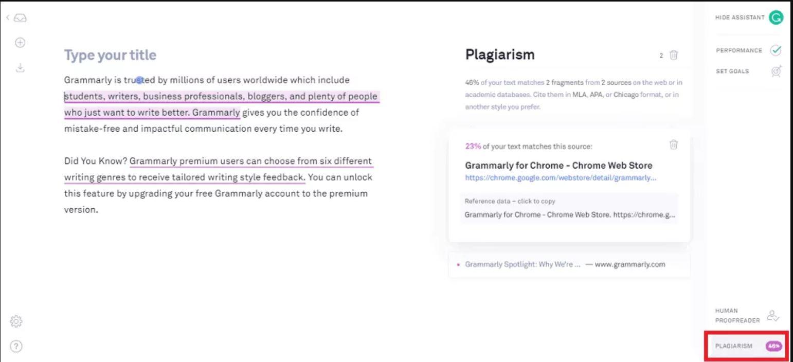 Grammarly Business plagiarism checker