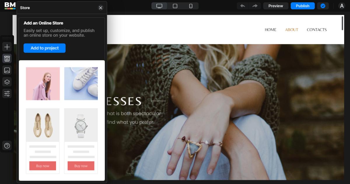 Online Store Widget