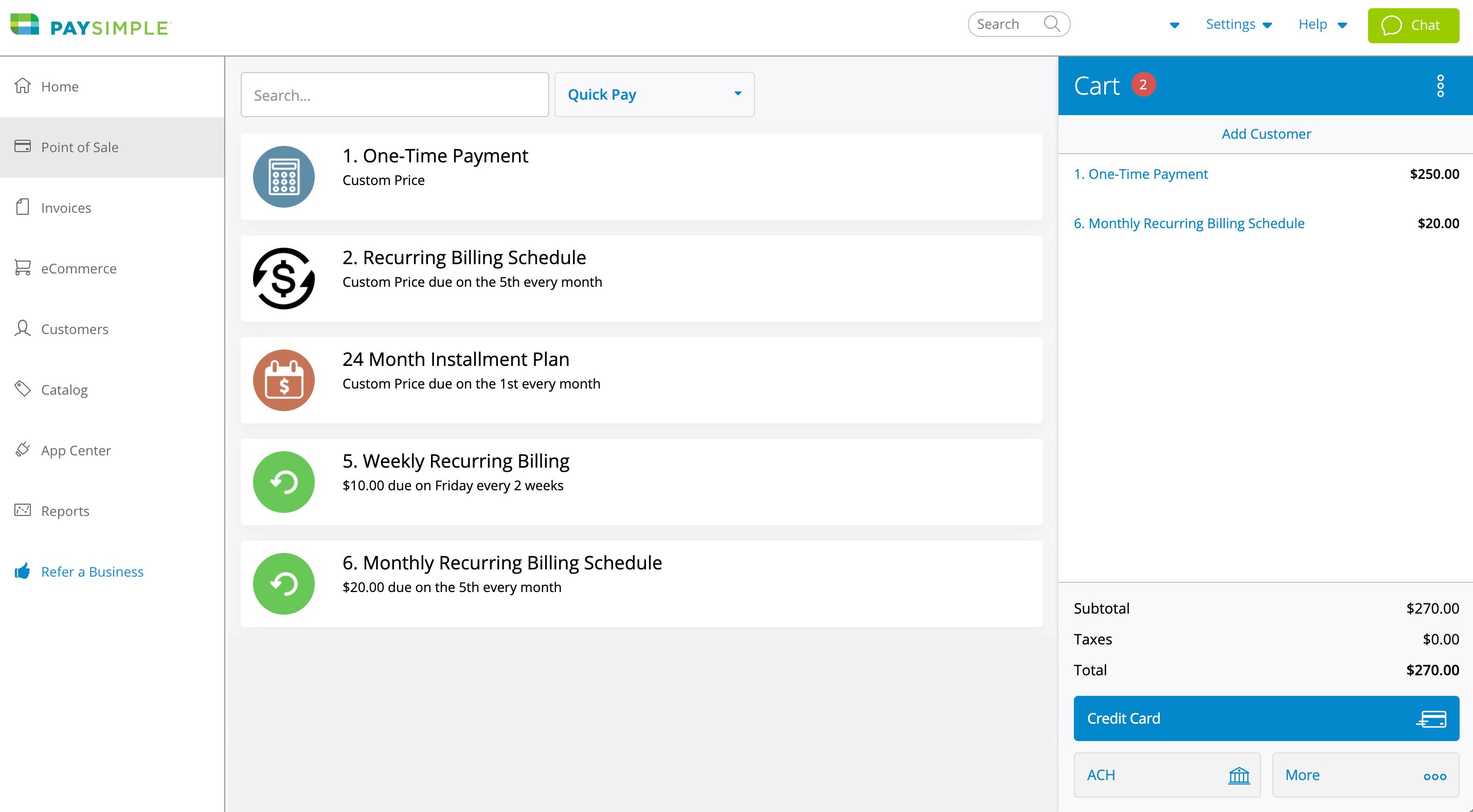 Process payments over the phone or in person with Point of Sale