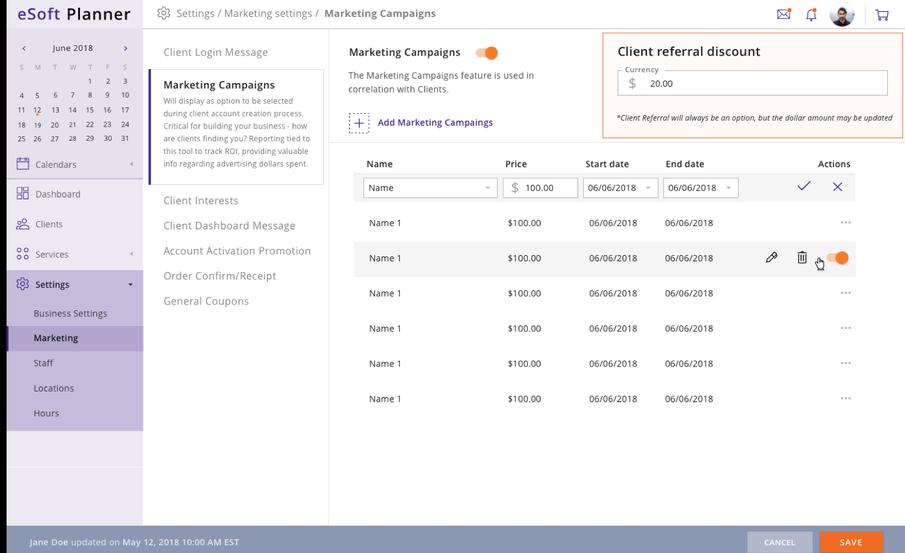 eSoft Planner marketing