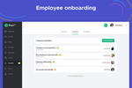 kiwiHR screenshot: employee onboarding with easy checklists