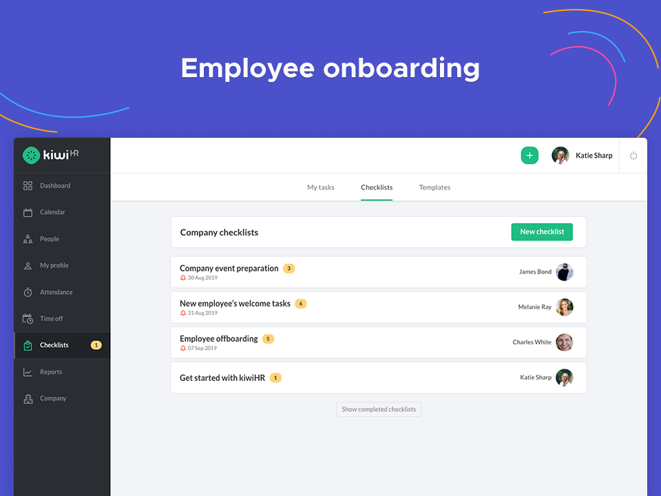 employee onboarding with easy checklists