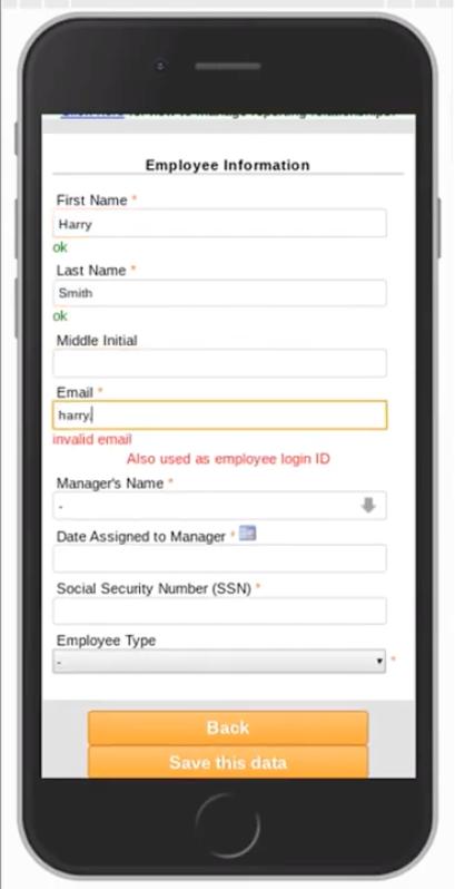 MobileHR Employee Creation
