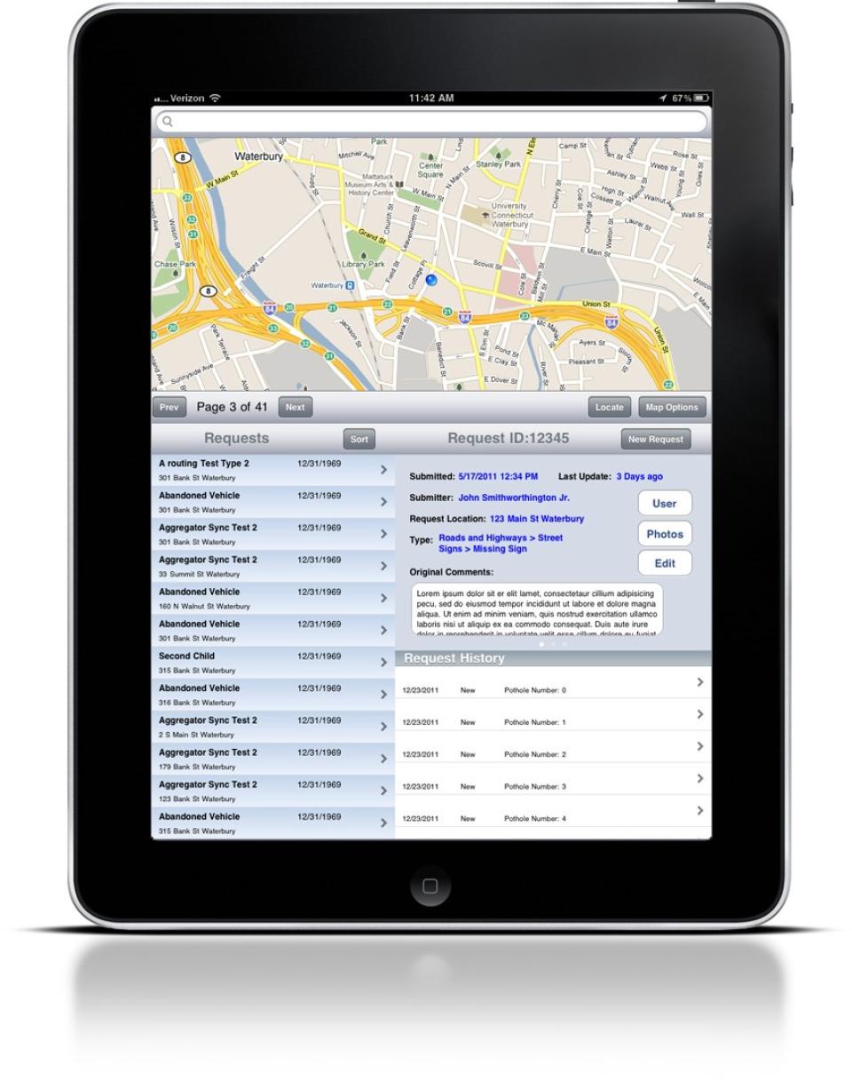 QAlert companion iPad application