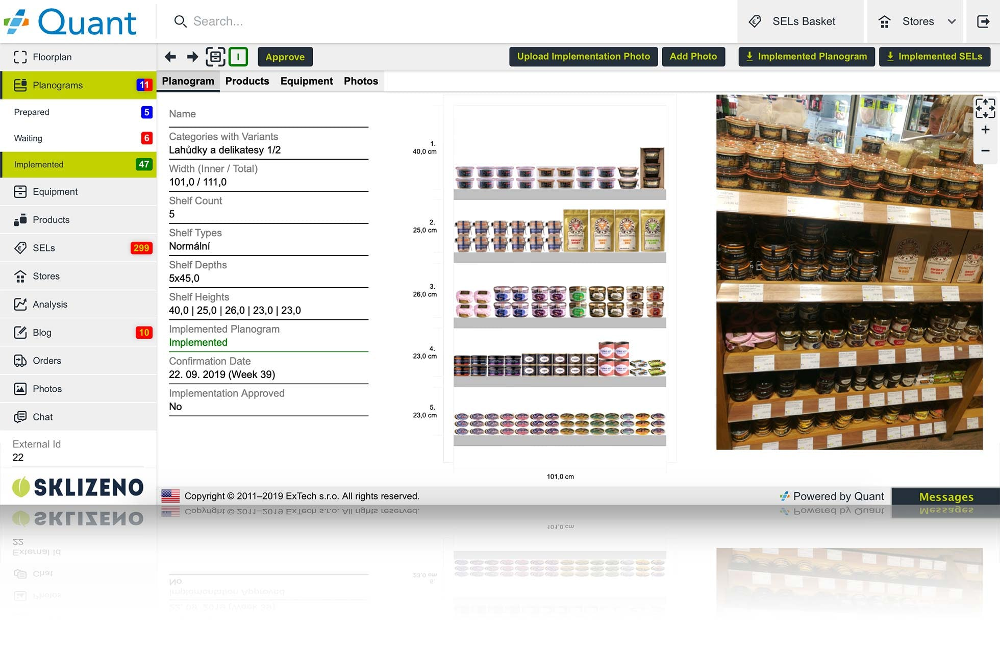 Quant Software - Planogram Compliance Check via Implementation Photo