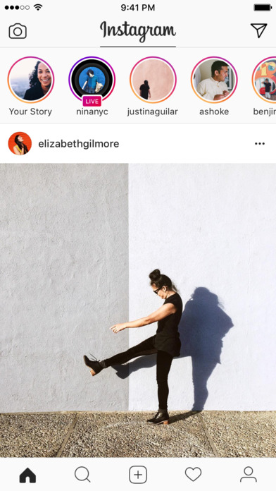 Stories appear at the top of each users' Instagram feed, and disappear after 24 hours