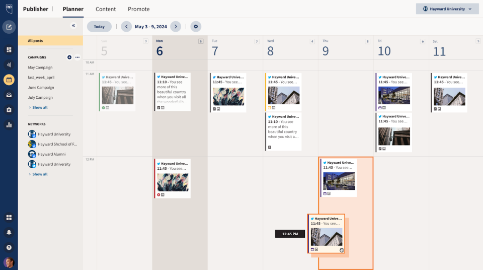 Social Content Scheduling