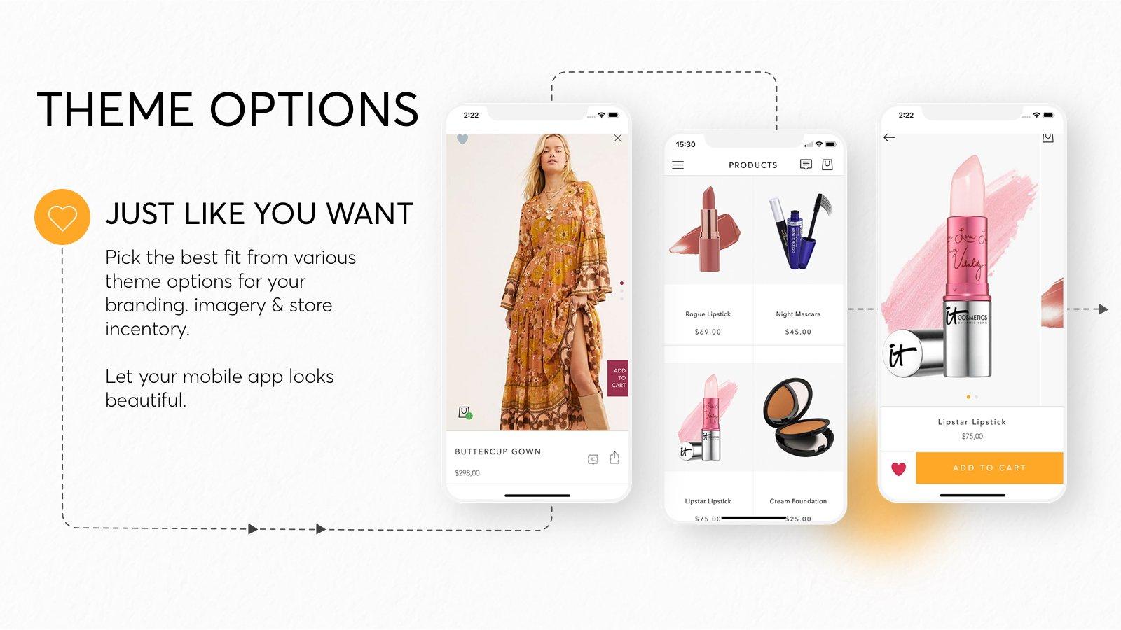 Shopney customizable theme templates