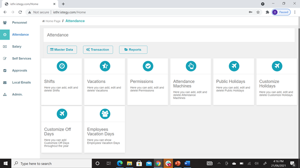 CloudWadi HR Software Software - 3