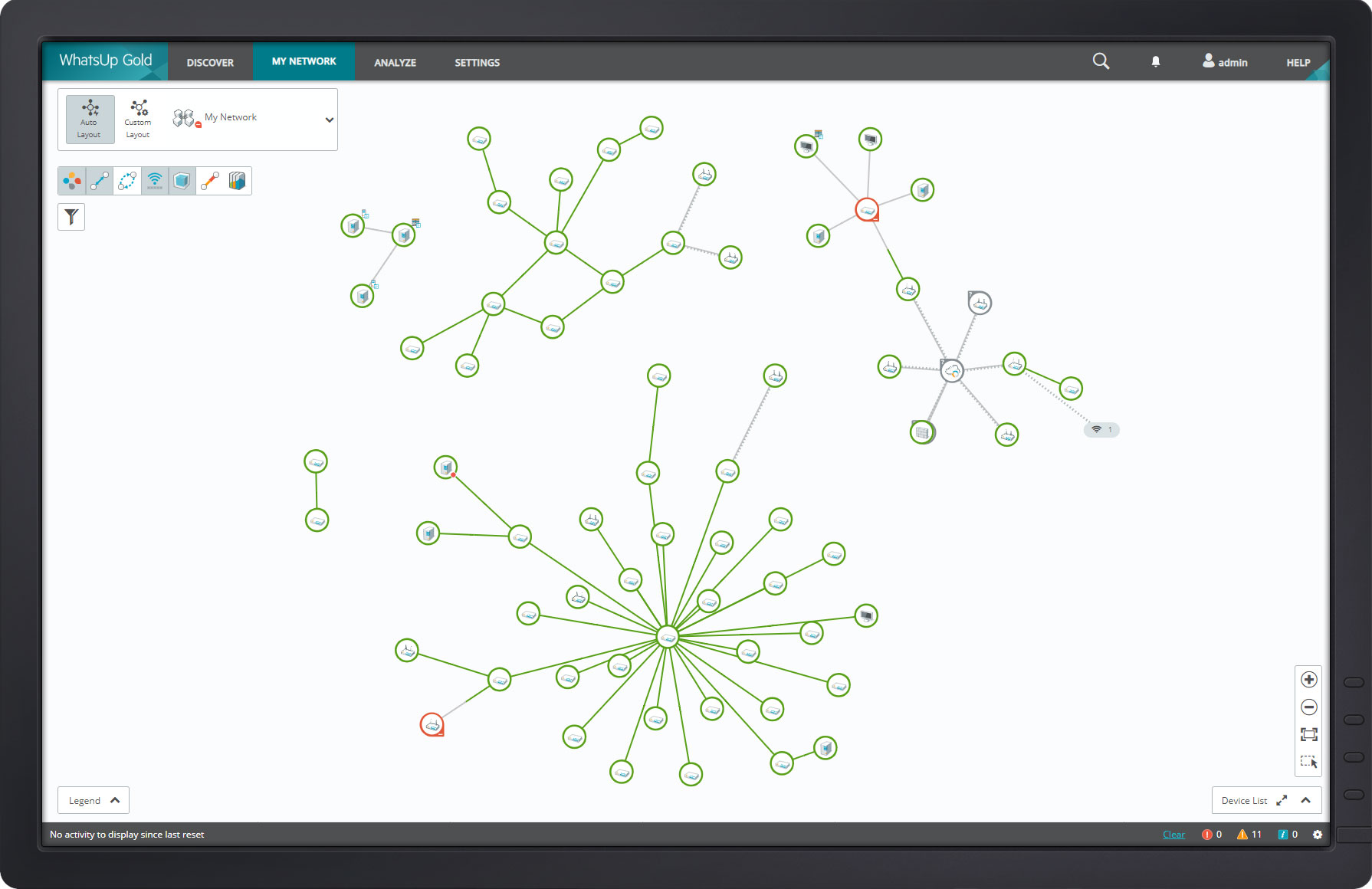 WhatsUp Gold Network Mapping