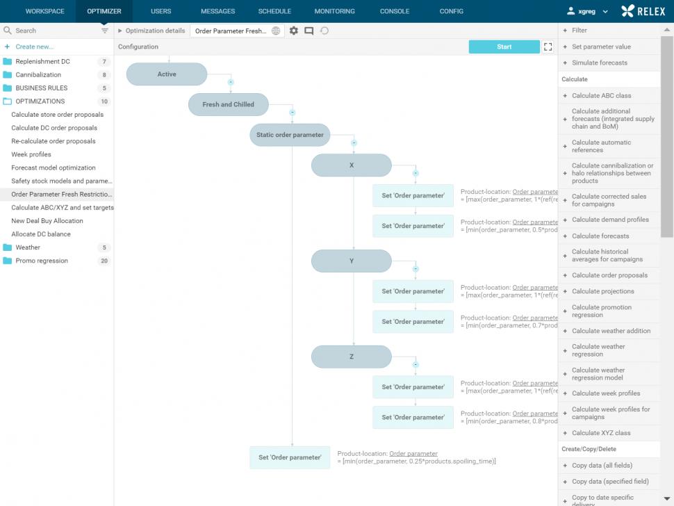RELEX Software - Optimizer configuration