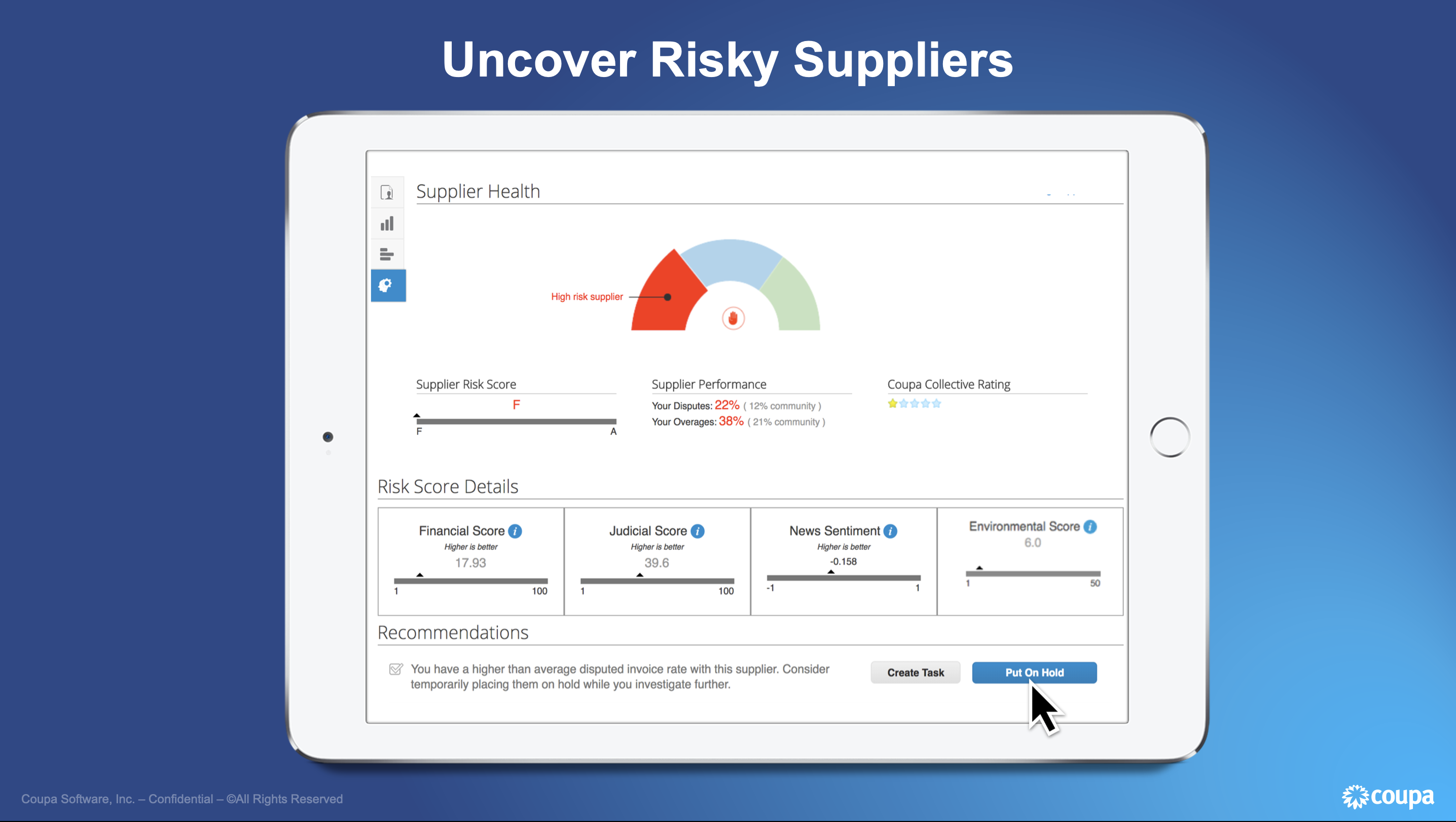 Uncover Risky Suppliers