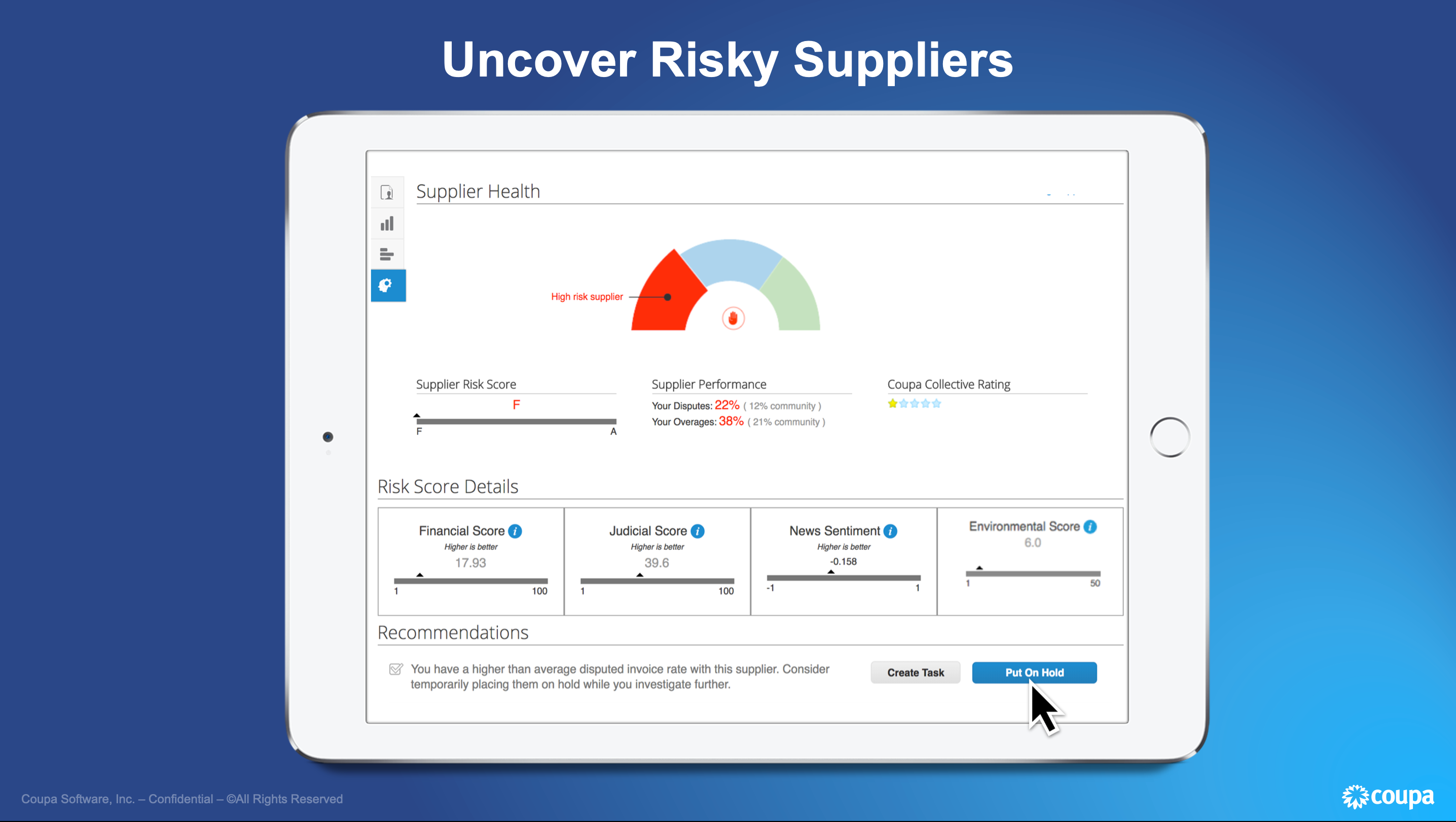 Coupa Business Spend Management Software - Uncover Risky Suppliers