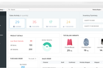 Captura de pantalla de Zoho Inventory: The Zoho Inventory dashboard gives a total overview of items sold, product details, popular items, and more