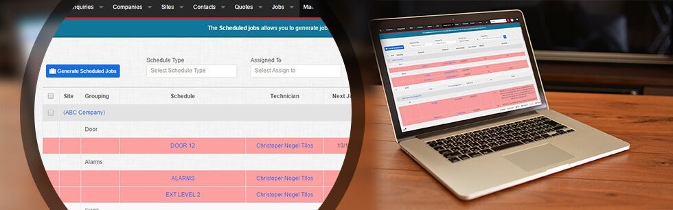 The scheduling platform allows users to have multiple schedules for multiple disciplines within any given site