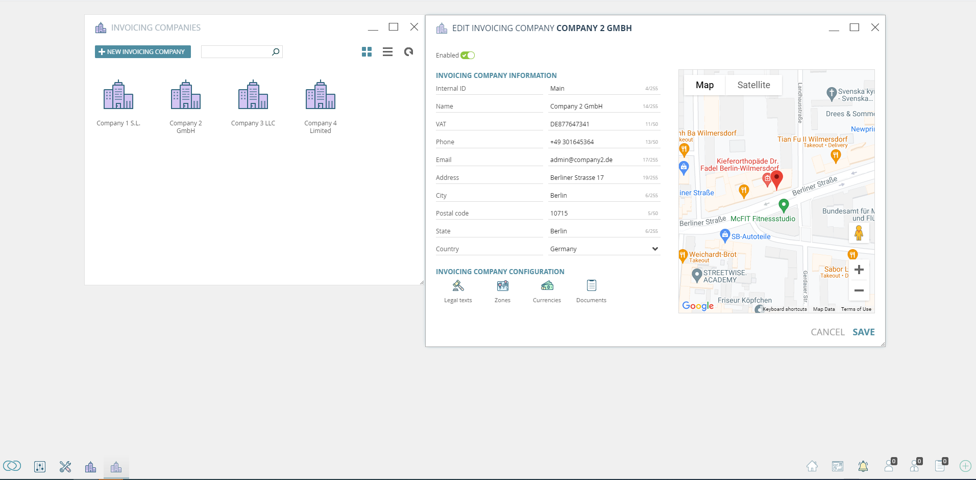 Multi-Invoicing Company: Create multiple companies and bill your customers based on their location.