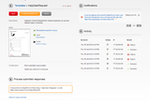 Capture d'écran pour PDF Share Forms Enterprise : Users can edit and publish templates, view recent activity, and read notifications